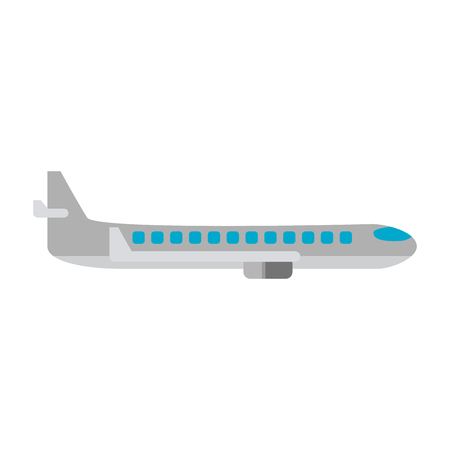 Airplane jet sideview symbol vector illustration graphic design