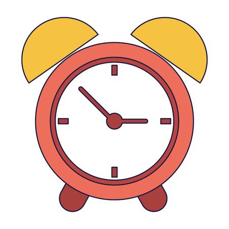 Clock alarm symbol cartoon vector illustration graphic design vector illustration graphic design