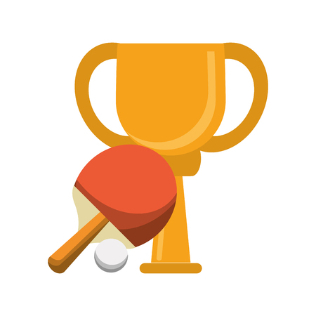 Ping pong trophy cup championship vector illustration graphic design Vectores