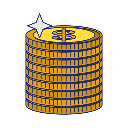 Money coins piled up symbol vector illustration graphic design 일러스트