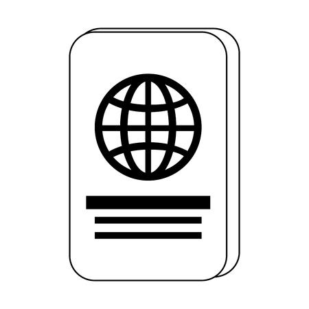 Passport document travel symbol vector illustration graphic design Standard-Bild - 120556948