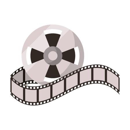 Cinema reel equipment cartoon vector illustration graphic design