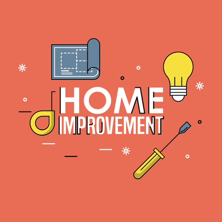 Home improvement and construction tools concept vector illustration graphic design