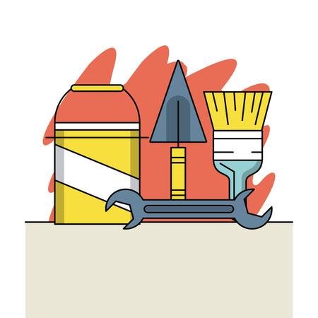 Home improvement and tools symbols vector illustration graphic design Stock Illustratie