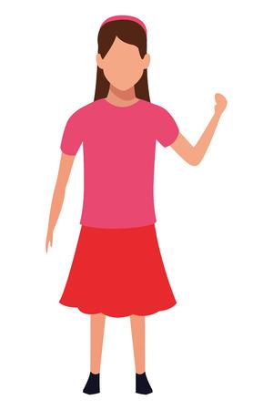 girl avatar cartoon character vector illustration graphic design vector illustration graphic design Illustration