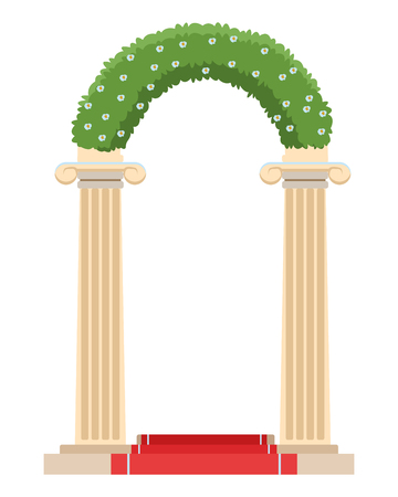 wedding altar icon isolated vector illustration graphic design