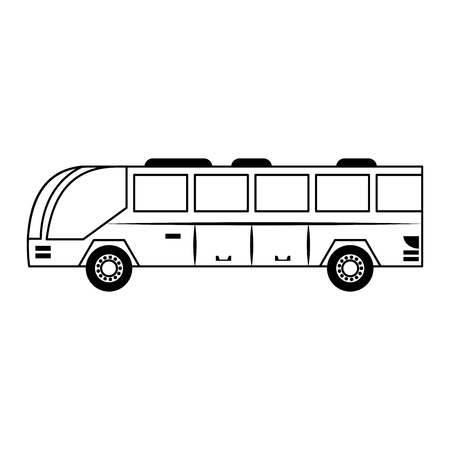Public bus vehicle sideview vector illustration graphic design Иллюстрация