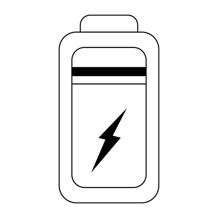 Battery tech charge isolated vector illustration graphic design