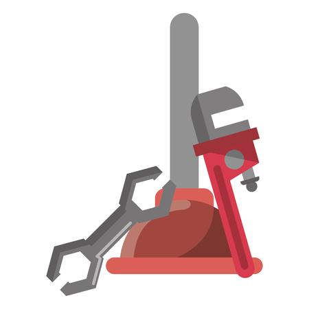 Bathroom and pumbling tools elements vector illustration graphic design