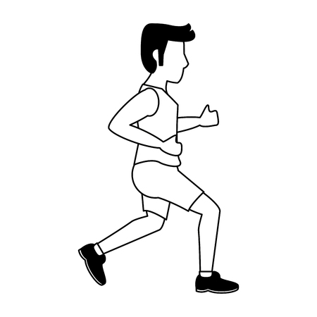 fitness man running sideview avatar