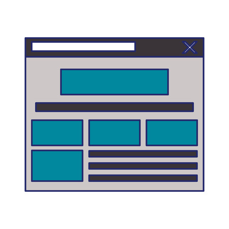 Internet website tab open without a screen isolated vector illustration graphic design