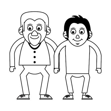 Elderly couple grandparents senior citizen vector illustration graphic design
