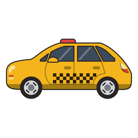 Taxi-Fahrzeug isoliert Vektor-Illustration-Grafik-Design