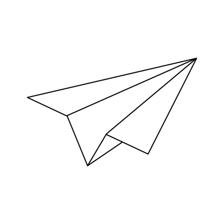 Paper plane symbol isolated vector illustration graphic design