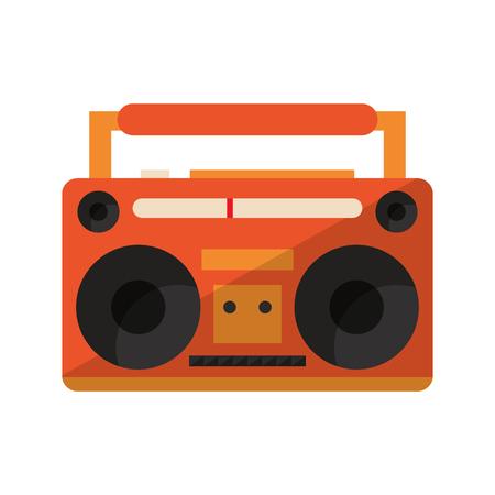 Retro radio stereo device vector illustration graphic design