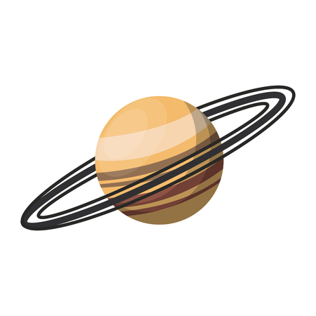 Saturn planet milky way galaxy vector illustration graphic design Illustration