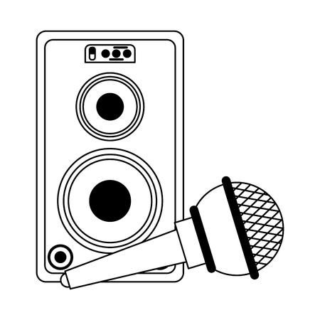 Strumento musicale e attrezzatura da studio musicale illustrazione vettoriale graphic design