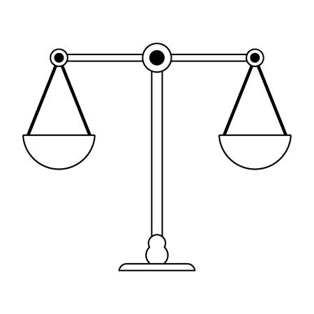 Justice balance symbol isolated vector illustration graphic design Illustration
