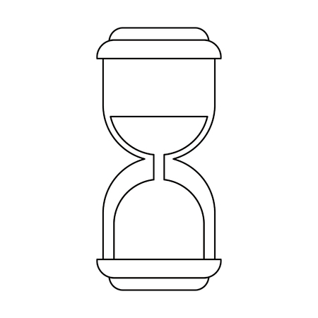 Hourglass antique timer symbol vector illustration graphic design