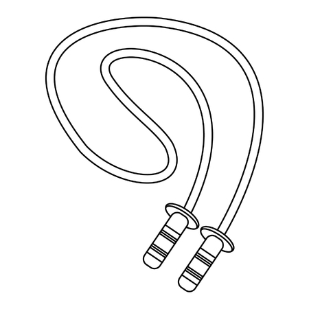 Fitness jumping rope isolated vector illustration graphic design