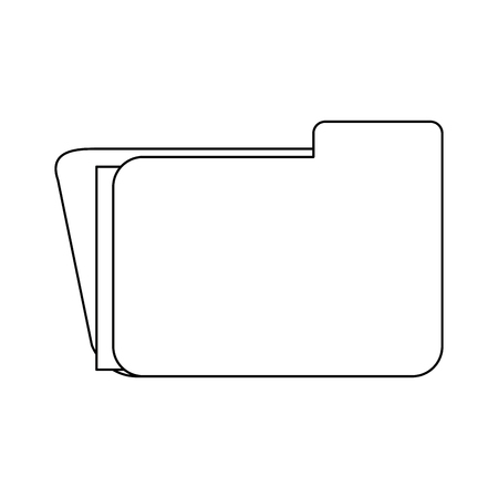 Folder business document symbol vector illustration graphic design Stock Illustratie