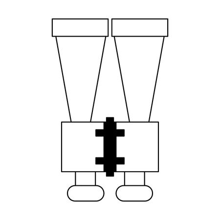 Binoculars spy device symbol vector illustration graphic design Ilustracja