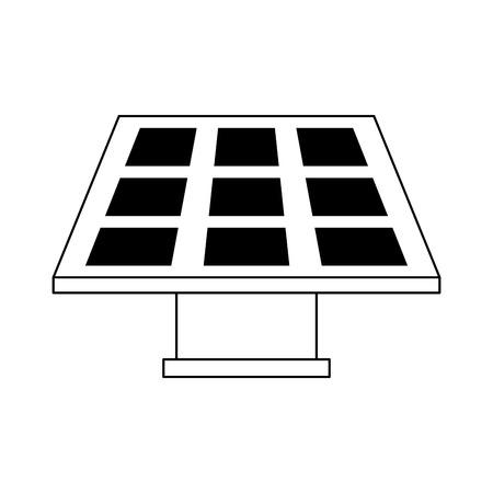 Solar panel green energy vector illustration graphic design Ilustração Vetorial