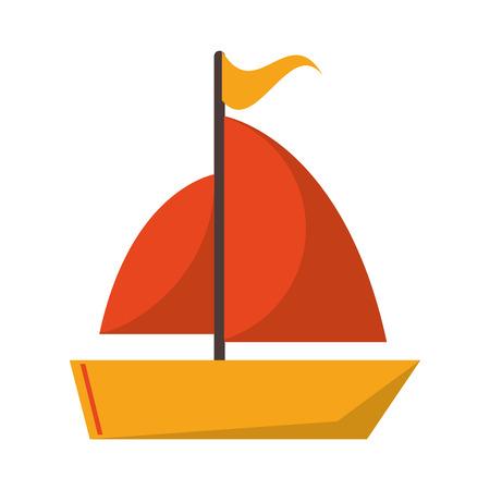 Sailboat travel symbol isolated vector illustration graphic design