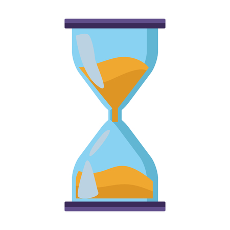 hourglass icon isolated vector illustration graphic design