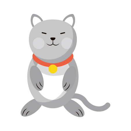 Cat cute animal cartoon vector illustration graphic design 矢量图像