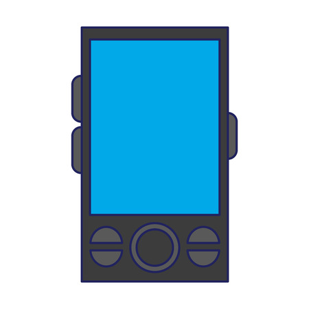 Smartphone mobile technology isolated icon ilustration vector Stock Illustratie