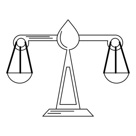 Justice balance symbol isolated vector illustration graphic design Illusztráció