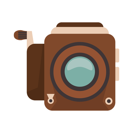 vintage photographic camera symbol vector illustration graphic design
