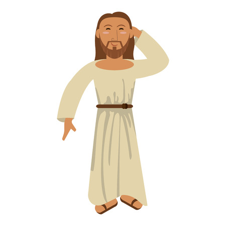 jesuschrist man greeting cartoon vector illustration graphic design 矢量图像