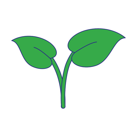 Plant leaves cartoon isolated vector illustration graphic design