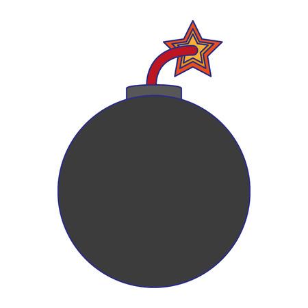 Bomb explosive round symbol vector illustration graphic design
