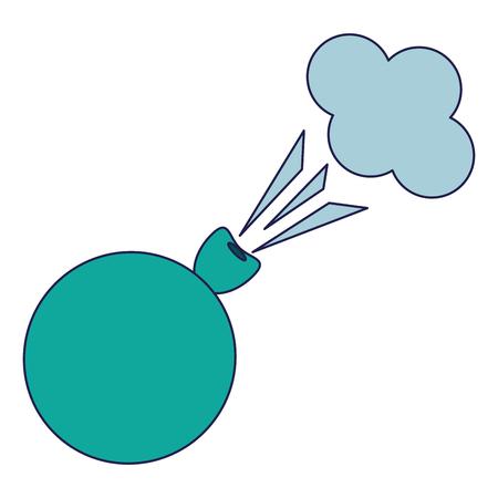 Joke fart globe cartoon isolated Designe