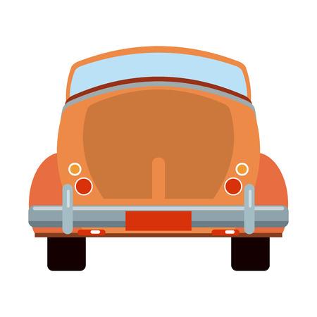 Vintage car convertible backward vehicle vector illustration graphic design Vecteurs