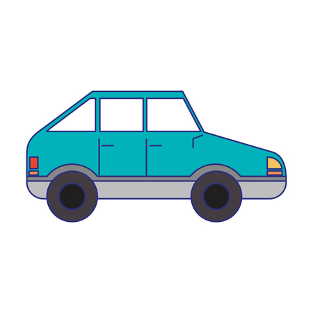 Coupe car vehicle sideview vector illustration graphic design Stock Illustratie