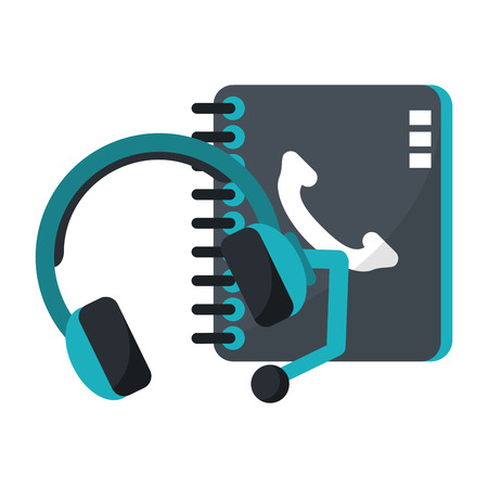 Technical support and customer service symbols vector illustration graphic design