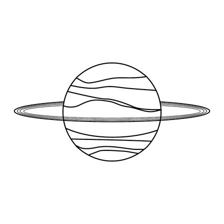 Saturn planet galaxy cartoon isolated vector illustration graphic design Vecteurs