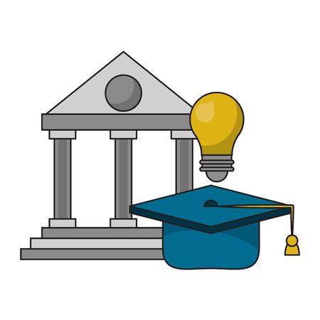 Education and academy cartoons isolated vector illustration graphic design Ilustração