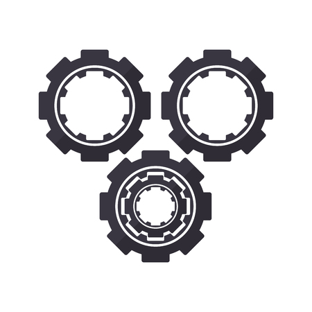 Gears machinery working isolated vector illustration graphic design