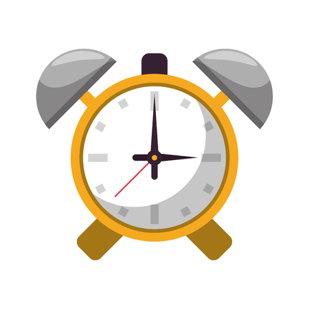 Alarm bells clock symbol vector illustration graphic design