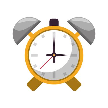 Alarm bells clock symbol vector illustration graphic design