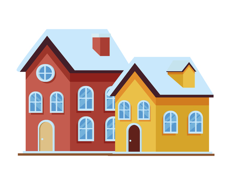 house and building icon isolated vector illustration graphic design