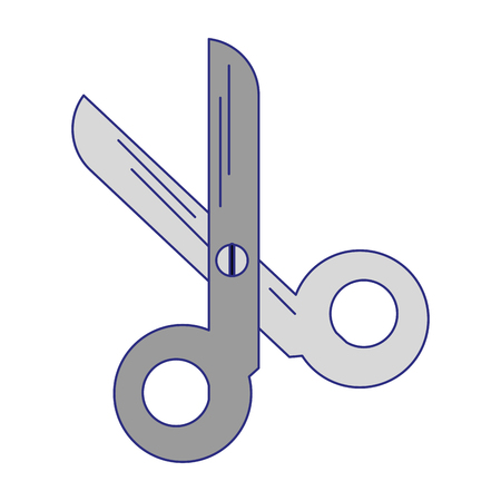 scissors utensil symbol isolated vector illustration graphic design