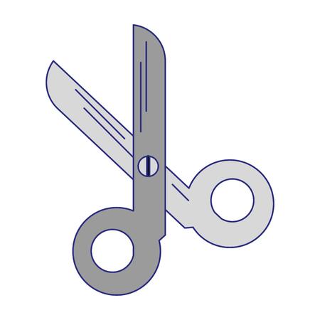 scissors utensil symbol isolated vector illustration graphic design Banco de Imagens - 123338738