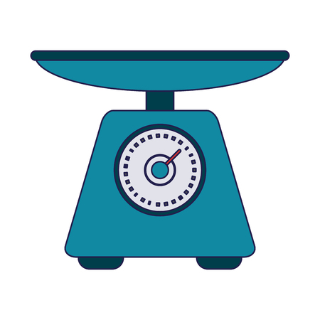 Food scale balance symbol vector illustration graphic design