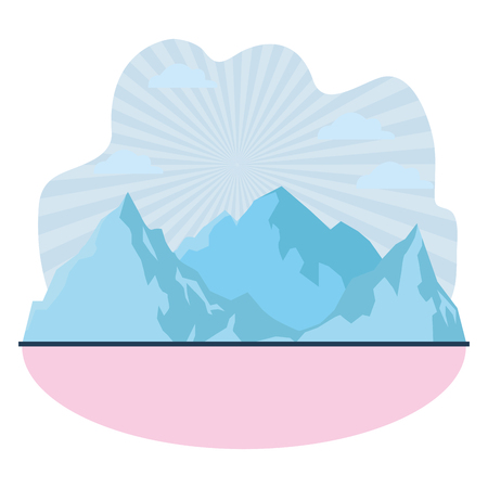mountain landscape icon vector illustration graphic design